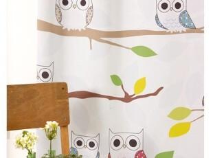 『韩国进口家居』A622 儿童房可爱卡通猫头鹰窗帘,窗帘,
