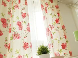 【ENOGA】田园风格 瑞丽莺歌-花 活性帆布 窗帘  宽幅窗帘,窗帘,