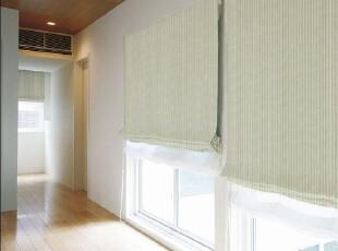 gafuhome雅风 日式简约 清新小淡绿 棉织入 宜家风细条纹窗帘,窗帘,