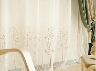 【韩国定做窗帘】A354  树之风景*典雅居室清风纱帘,窗帘,