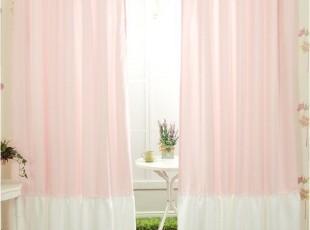 New新品上架㊣韩国 鱼美人尾下摆 韩式窗帘 粉色 现货2012,窗帘,