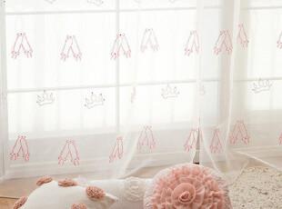『韩国网站代购』甜美舞者 芭蕾舞鞋与皇冠图案窗帘,窗帘,