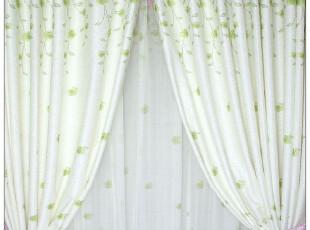 卧室书房布艺韩式田园窗帘窗纱布料特价外贸绿色宜家【青葱岁月】,窗帘,