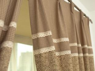 【麦森】窗帘美式乡村 灰咖色,窗帘,