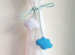 2012新品㊣窗帘卡通绑带 蓝天白云 现货,窗帘,