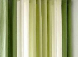韩国进口窗帘 绿色清新组合窗帘/客厅遮光窗帘 清凉绿色 可定做,窗帘,