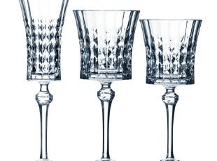 法国进口 CDA 钻石情迷系列 无铅水晶红酒杯 葡萄酒杯 香槟杯,红酒专用,