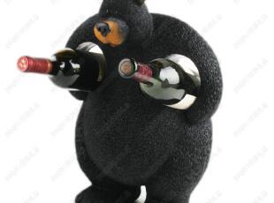 特价包邮 创意红酒架 美国大黑熊葡萄酒架 树脂酒架装饰品,红酒专用,
