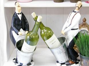 ★公主梦想★韩国家居*厨房长和侍者*造型红酒啤酒收纳桶 W1766,红酒专用,