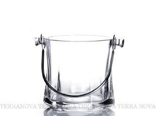 意大利进口 Bormioli 钢化玻璃冰桶 透明带提手冰块桶 送冰夹,红酒专用,