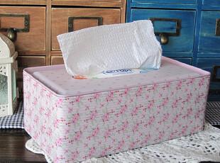 超低价冲钻[大号]韩国原单 铁盒纸巾盒纸巾抽 粉色圆点碎花,纸巾盒,