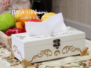 白色创意纸巾盒 典雅 茶几伴侣 装饰品,纸巾盒,