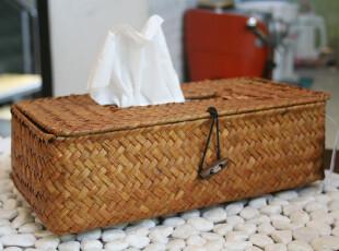 特印尼纯手工编织田园风环保材质纸巾盒套 车载纸巾盒 家用纸巾盒,纸巾盒,
