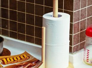 木制厨房用纸巾架 卷筒纸巾盒 创意宜家桌面收纳架子韩国厨房用具,纸巾盒,