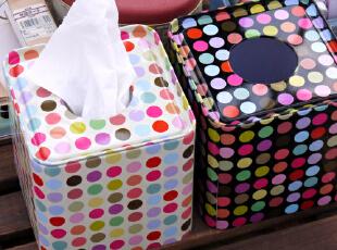 [纸巾盒]正方,深淡双款 铁皮盒/纸巾抽/纸巾筒/方形铁盒,纸巾盒,