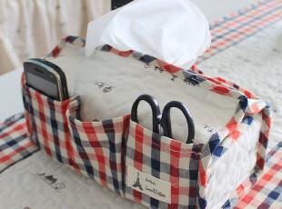 自然乡村 纸巾套 纸巾盒 抽纸盒 绗缝布艺收纳盒 zakka,纸巾盒,