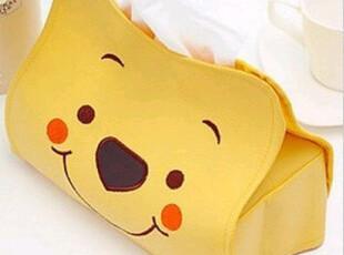 可爱维尼熊皮质纸巾盒 可爱创意 纸巾盒 纸巾收纳袋2,纸巾盒,
