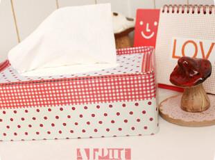 水玉甜格。磨砂质 铁皮纸巾盒。100抽,纸巾盒,