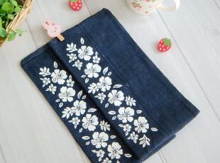 *一枝の铺*日单出口日本原单外贸樱花牛仔布纸巾盒套仅4元/个,纸巾盒,