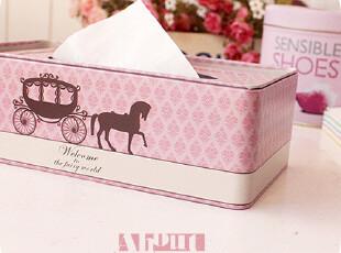 南瓜,马车。磨砂质 铁皮纸巾盒。100抽,纸巾盒,