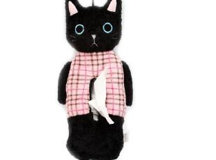 Amuse by dream 经典格子黑猫 纸巾盒套/卷筒纸套4255 0.15kg,纸巾盒,