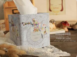 缀,美。铁皮纸巾盒 卷纸盒 卷纸筒,纸巾盒,