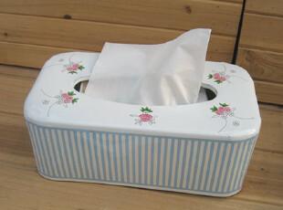 『樂樂堂』 法式玫瑰 ZAKKA杂货 搪瓷 纸巾盒 瑕疵处理,纸巾盒,