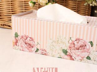 暖暖の花簇。写实花朵。铁皮纸巾盒。200抽,纸巾盒,