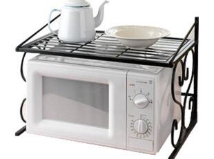 铁艺微波炉架子置物架 双层架烤箱架调味架厨房收纳架欧润哲,置物架,