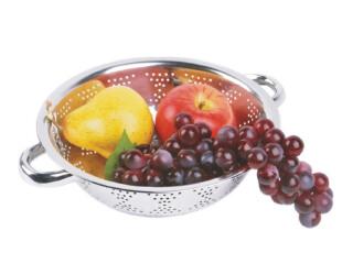 [凌柯生活]不锈钢网眼网篮/水果篮/蔬菜篮/沥水篮 18cm小号5240,置物架,