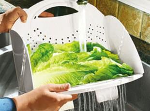 『韩国进口家居』mc-0276 方便实用!折叠式厨房蔬菜水果沥水篮,置物架,