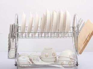 7.3折 S形双层厨房用品 盘子架放碗碟架 搁碗架菜刀架碗筷沥水架,置物架,