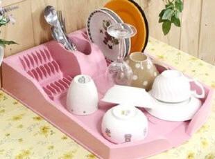 ★公主梦想★韩国家居*公主厨房必备*粉色碗盘沥水收纳架 W1151,置物架,