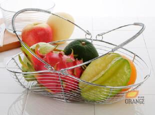 铁艺提手水果篮子 水果盘 时尚创意宜家欧式厨房沥水篮收纳篮,置物架,