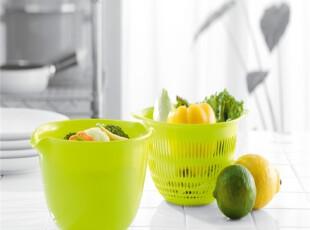 日本进口沥水碗套装 洗涤碗 水果篮 水果盆 2个装红色,置物架,