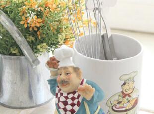 『韩国网站代购』可爱大胡子厨师餐具笼,置物架,