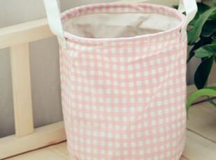 ZAKKA日式杂货 收纳袋/粉色水玉点点收纳桶 脏衣桶 粉色,脏衣篮,