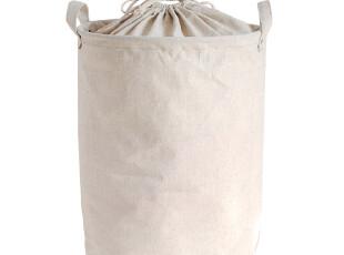 自然而然 大号 棉麻束口收纳桶 脏衣篮 洗衣篮 脏衣服收纳筐篮,脏衣篮,