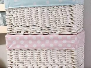 艺典家居 韩式双色斑点脏衣篓 储物编织整理箱 脏衣服收纳筐篮,脏衣篮,
