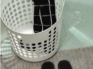 时尚高品质创意家居大牌正品有孔脏衣篮收纳篮洗衣篮白色 畅销款,脏衣篮,