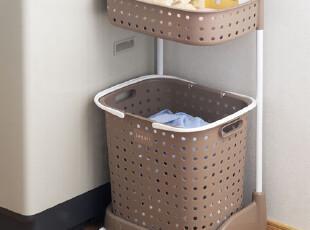 日本进口脏衣篮篓 洗涤框 组合式分类洗衣篮 脏衣服收纳筐洗涤筐,脏衣篮,