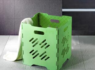 蓝格子 洗衣篮脏衣篮 牛津布脏衣收纳篮 折叠简易大号衣篓,脏衣篮,