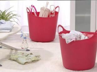 日本原装进口收纳篮 多用途彩色洗衣篮 手提脏衣篮 玩具收纳筐,脏衣篮,