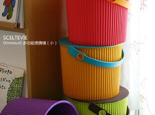 SCELTEVIE 8L S 多功能便携桶(小)杂物脏衣桶 玩具收纳桶 带盖,脏衣篮,