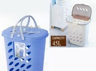 日本进口 翻盖式脏衣篮 衣物收纳篮 超大号 收纳家居用品,脏衣篮,