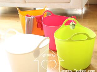 日本原装进口 万能收纳篮 衣物洗衣篮/脏衣篮  玩具收纳桶 26L,脏衣篮,
