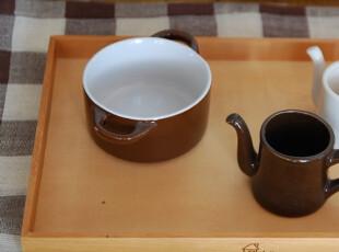 【山鱼良品】原木茶盘/托盘 小房子印花 32.5*22.5cm,茶具,