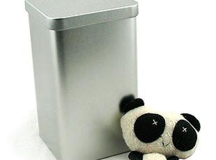 新品!大号正方茶叶铁盒素色金属盒笔筒家居生活收纳罐密封,茶具,