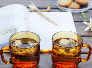 玻璃茶具 钢化玻璃水杯 茶杯 琥铂色高强度 环保安全 新品九折,茶具,