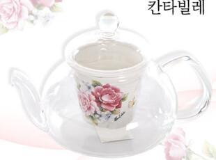进口【韩国茶水壶】玻璃+陶瓷 茶壶礼仪拜访 生日礼物 系列 A,茶具,